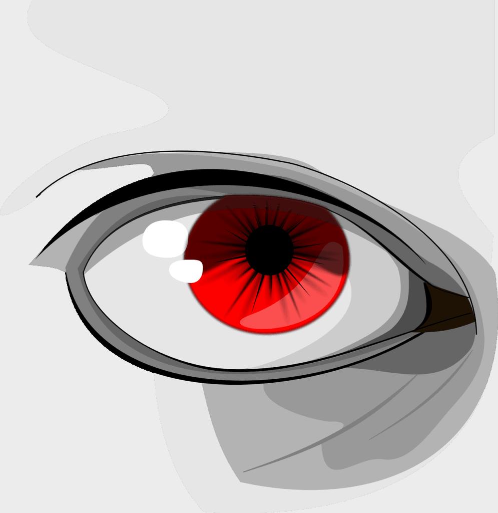 העין בצבע אדום